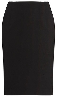 Dorothy Perkins Womens Dp Curve Black Bengaline Pull On Pencil Skirt, Black