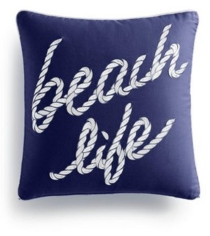 "Charter Club Damask Designs Beach Life ""16X16"" Decorative Pillow, Created for Macys Bedding"