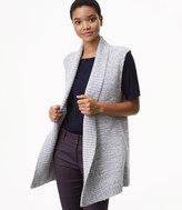 LOFT Petite Spacedye Sweater Vest