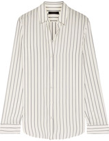 The Row Peter Striped Silk Shirt - Ivory