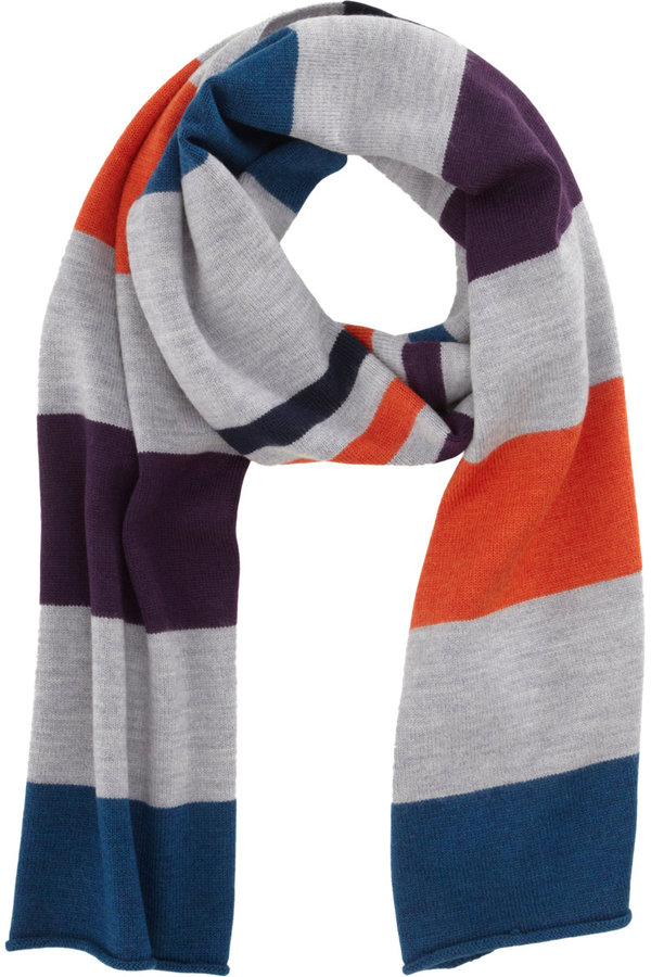 Barneys New York CO-OP Jersey Stitch Stripe Scarf