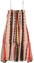 Apiece Apart Dafni Striped Silk Dress