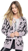 Juicy Couture Outlet - IMPERIAL LEOPARD JACQUARD CARDIGAN