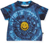 Molo Emilio Short-Sleeve Tie-Dye Smiley Face T-Shirt, Size 6-24 Months