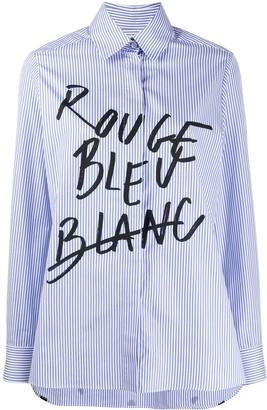 Être Cécile Written Striped Shirt