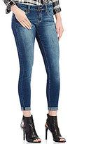 YMI Jeanswear WannaBettaButt Low-Rise Roll-Cuff Denim Skinny Ankle Jeans