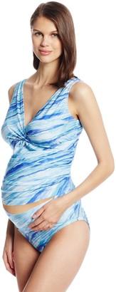 Japanese Weekend Women's Maternity Surplice Sheer Tankini Swim Suit