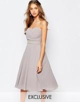 TFNC WEDDING Embellished Waist Prom Dress