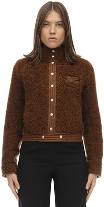 Courreges Short Faux Shearling Jacket