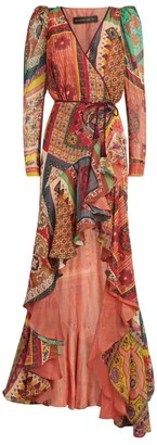 Etro Patchwork Print Maxi Dress