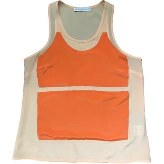 Richard Nicoll Orange Silk Top for Women