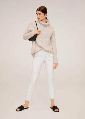MANGO Coated skinny-fit trousers