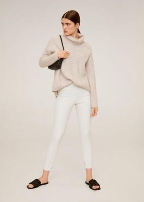 MANGO Coated skinny-fit trousers black - S - Women