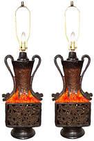 One Kings Lane Vintage,  Lamp, Brown/multi, In Stock