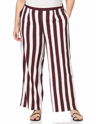 Simply Be Women's Ladies Stripe Wide Trousers