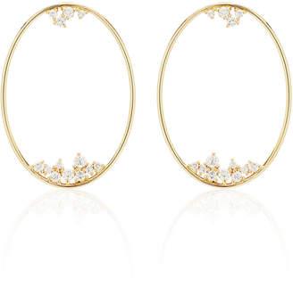 Mizuki Large Oval Diamond Drop Earrings