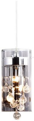 MooseLED Verona Crystal Pendant Light Mini Glass Cylinder Fixture
