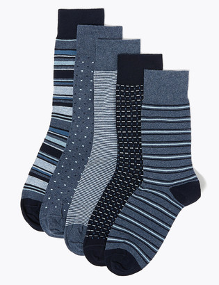 Marks and Spencer 5 Pack Cool & Fresh Assorted Socks