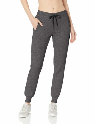 Andrew Marc Women's Jogger with Faux Leather Zipper Pockets