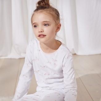 The White Company Run Wild Horse-Print Pyjamas (1-12yrs), White/Pink, 2-3yrs