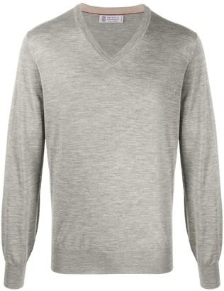 Brunello Cucinelli plain V-neck pullover