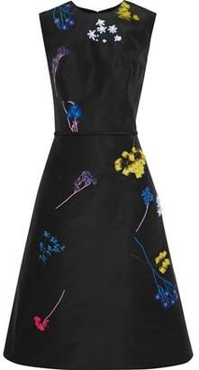 Carolina Herrera Embellished Silk-faille Dress