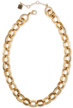 """Laundry by Shelli Segal Gold-Tone Large Link Collar Necklace, 16"""" + 2"""" extender"""