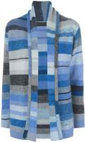 The Elder Statesman cashmere colour blocked cardigan