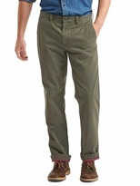 Gap Vintage wash flannel-lined straight fit khakis