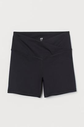 H&M Wrap-front Shorts - Black