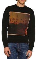 DSQUARED2 American Road Trip Graphic Sweatshirt, Black