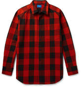 Beams Buffalo Checked Cotton-twill Shirt - Red