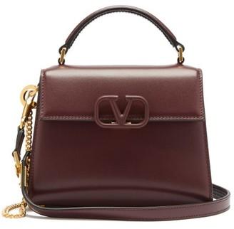 Valentino V-sling Mini Leather Shoulder Bag - Burgundy