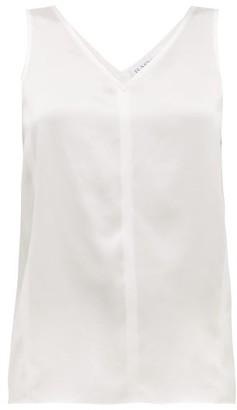 Raey High V-neck Silk Cami Top - Ivory