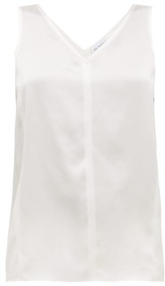 Raey High V-neck Silk Cami Top - Womens - Ivory