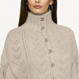 Ralph Lauren Black Label Suede-Trimmed Wool Cape