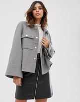 Y.A.S boxy utility jacket with volume sleeve