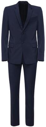 Prada Single Breasted Stretch Poplin Suit