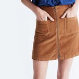 Madewell Corduroy Zip Mini Skirt