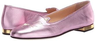 Charlotte Olympia Soft Kitty Flats (Pink) Women's Shoes