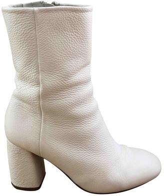 Miista White Leather Boots