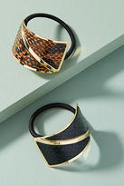 Anthropologie Serpentine Pony Holder Set