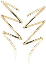 Lana Large 14K Gold Bolt Stud Earrings