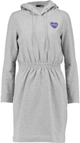 Love Moschino Cotton-blend hooded dress