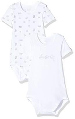 Chicco Baby Set 2 Body Unisex Maniche Corte Con Apertura Sulla Spalla Bodysuit,(Size: 050) (Pack of 2)