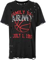 Amiri graphic print distressed T-shirt
