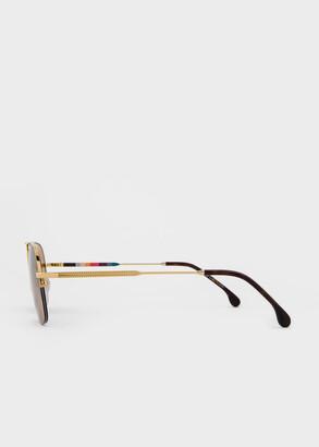 Paul Smith Gold 'Clifton' Sunglasses