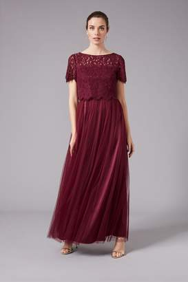 Phase Eight Womens Red Kiera Lace Tulle Maxi Dress - Red