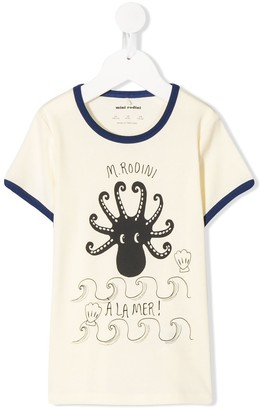 Mini Rodini Octopus printed T-shirt