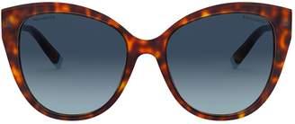 Tiffany & Co. Tortoiseshell T True Cat Eye Sunglasses
